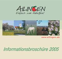 Die offizielle Informationsbroschüre Friedrichshafen - Ortsteil Ailingen