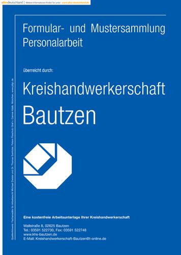 Formular- und Mustersammlung der Kreishandwerkerschaft Bautzen