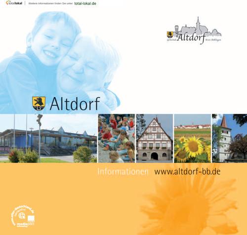 Bürgerinfomationsbroschüre der Gemeinde Altdorf