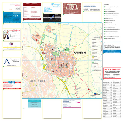 Ortsplan der Stadt Plankstadt
