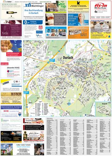 Stadtplan Durlach