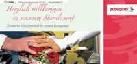 Zirndorfer Gutscheinheft für unsere Brautpaare