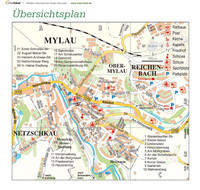 Stadtplan Mylau