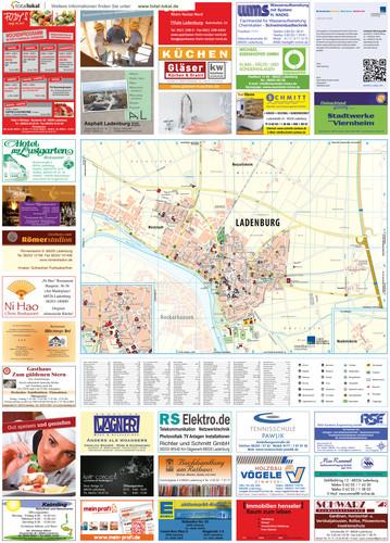 Stadtplan von Ladenburg