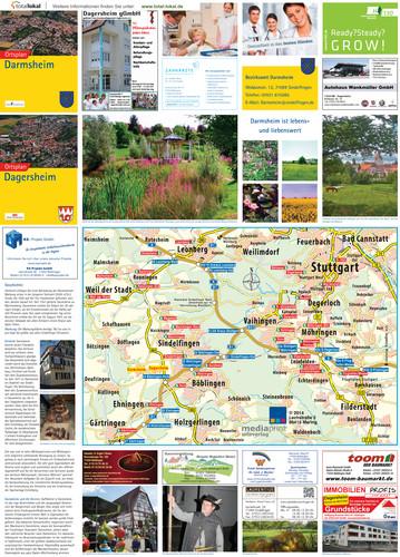 Ortsplan - Darmsheim + Dagersheim