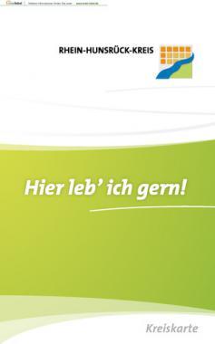 Kreiskarte Rhein-Hunsrück-Kreis