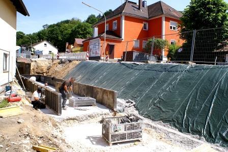 100 Kubikmeter Beton für Mauer