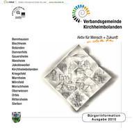 Bürgerinformationsbroschüre 2015 Verbandsgemeinde Kirchheimbolanden