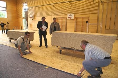 Dreifach-Sporthalle: Die Sanierung ist angelaufen