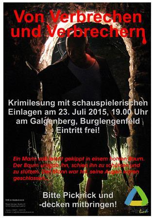 Von Verbrechen und Verbrechern – Lesung auf dem Burglengenfelder Galgenberg