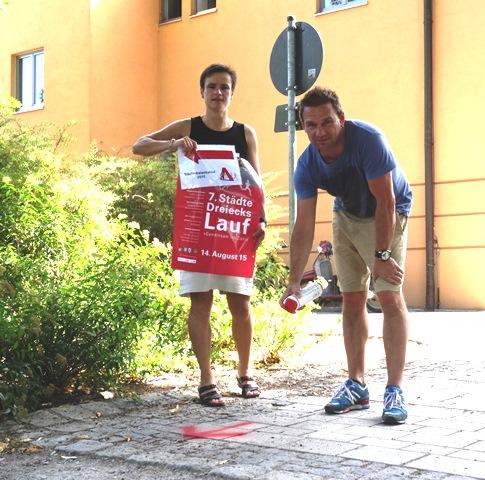 """Städtedreieckslauf steht in den Startlöchern"""" - Laufstrecken wurden zum Trainieren markiert"""""""