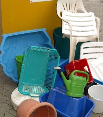 Hartkunststoffe werden separat erfasst - neuer Container an den Recyclinghöfen des Landkreises