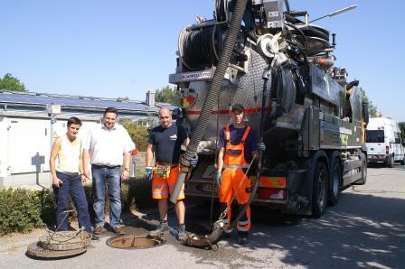 Stadt Teublitz reinigt die Kanäle im Kernstadtbereich