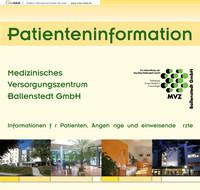 Medizinisches Versorgungszentrum Ballenstedt GmbH - Patienteninformation