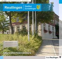 Informationsbroschüre Reutlingen Stadtteil Sondelfingen