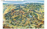 Panoramakarte des Südschwarzwaldes