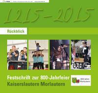 Festschrift zur 800-Jahrfeier Kaiserslautern Morlautern
