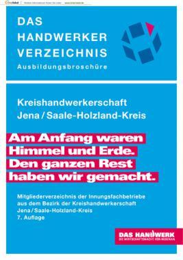 DAS HANDWERKER VERZEICHNIS  -  Kreishandwerkerschaft Jena / Saale-Holzland-Kreis