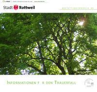 Informationen für den Trauerfall Stadt Rottweil