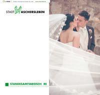 Standesamtbroschüre Stadt Aschersleben (Auflage 3)