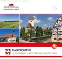 ARCHIVIERT Böblingen-Dagersheim Informationen für Mitbürgerinnen und Mitbürger (Auflage 1)