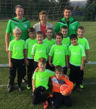 Neue Trikots für F-Jugendmannschaften der SG SC Teublitz/FC Saltendorf a.d. Naab