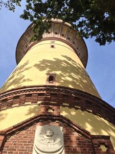 Lichtkunst im Wasserturm - fällt wegen eines Defekts leider aus!