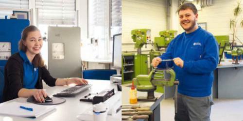 Interview: Lisa u. Andreas über die Ausbildung zur Fremdsp. Industriekauffrau / zum Industriemechan.