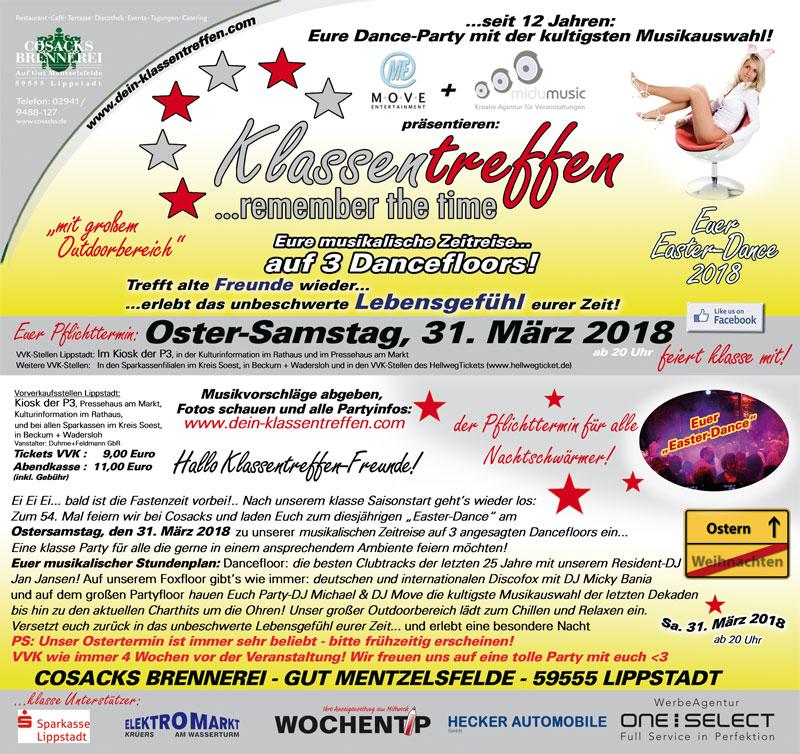 """Klassentreffen ... remember the time """"Easter Dance"""""""