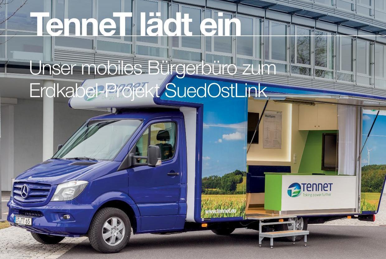 Infomobil zur Gleichstromtrasse SuedOstLink macht in Burglengenfeld halt