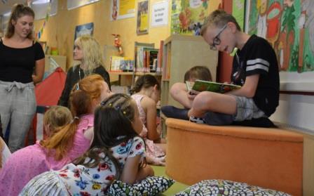 Lesevormittag in der Bücherei