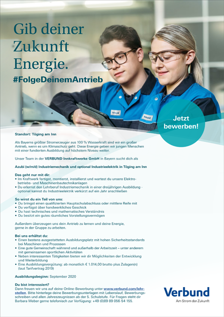 Industriemechaniker (m/w/d) Töging am Inn
