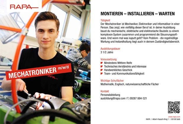 Ausbildung zum Mechatroniker (m/w/d)