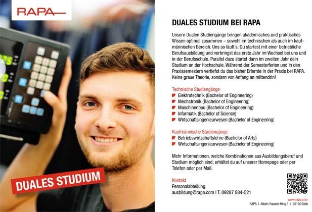 Duales Studium: Mechatronik (m/w/d)