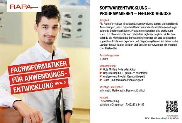 Ausbildung zum Fachinformatiker (m/w/d) Anwendungsentwicklung